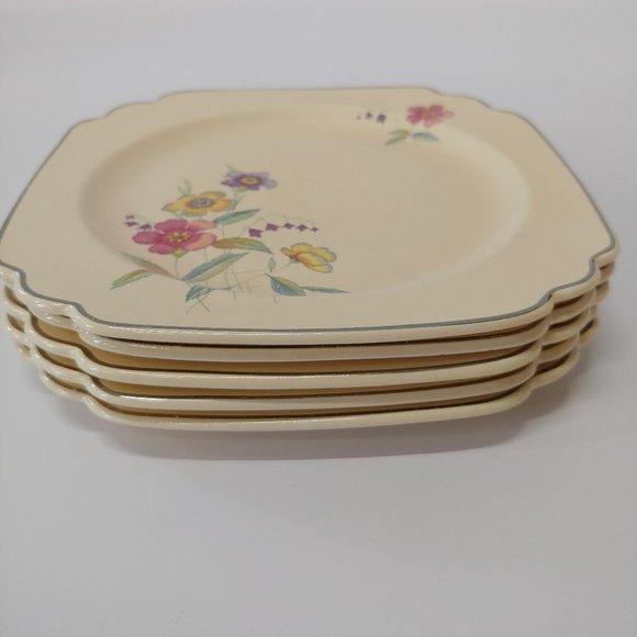 Vintage Other - Vintage Wells by Homer Laughlin Co., Floral Plates